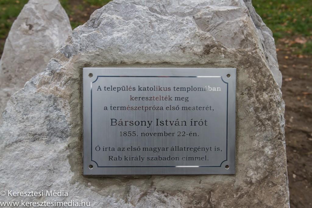 A Bársony István emléktábla