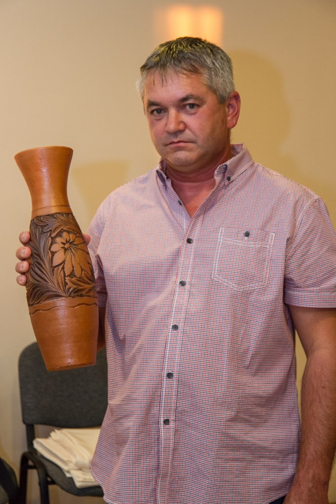 Szalai József, Sárkeresztes alpolgármestere az erdélyi ajándékkal